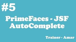 PrimeFaces - JSF Tutorial    AutoComplete in Primefaces using Netbeans IDE    Part-2