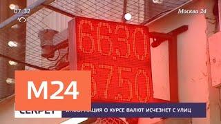 Путин подписал закон о запрете уличных табло с курсами валют - Москва 24