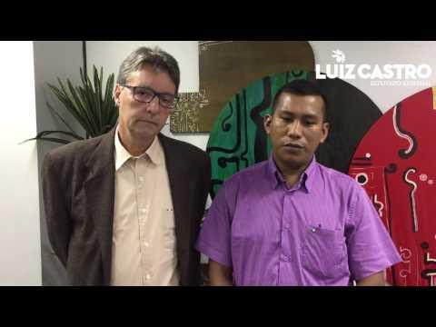 Luiz Castro recebeu o vereador Cesar Mayuruna de Atalaia do Norte.
