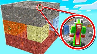 SURVIVING ON THE WORLD'S LARGEST MINECRAFT CUBE!