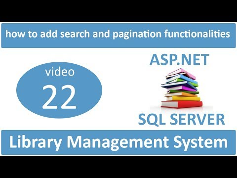 how to add search and pagination functionalities in asp.net lms