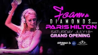 Paris Hilton Foam  Diamonds Opening Party  Amnesia Ibiza 2015