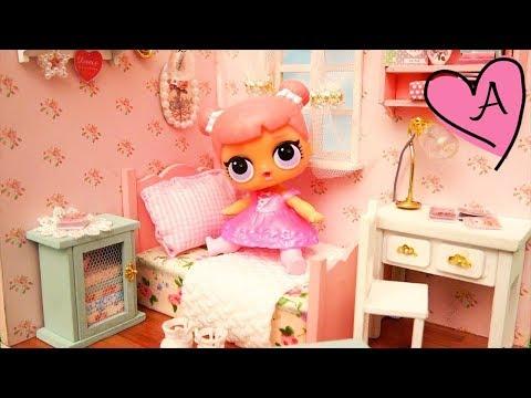 Dormitorios para muñecas de los juguetes sorpresa L.O.L usando kits DIY de miniaturas