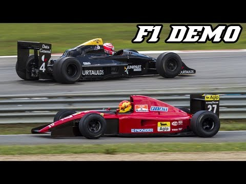 F1 demo Zolder historic GP 2017 - Ferrari 643, F92a, Tyrrell 17, Williams  and more