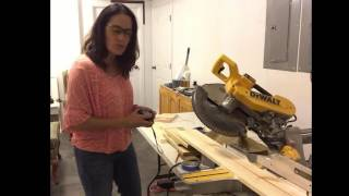 How to make a 45 degree bevel cut for custom wall sconce
