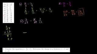 Subraction of Rational Numbers