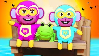 Down By The Bay   SUPERHERO FAMILY   Nursery Rhymes For Children   Kids Songs   All Babies Channel