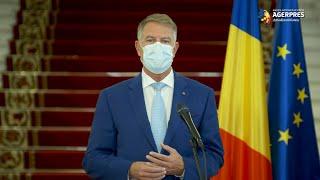 Iohannis: E nevoie de restricţii; mască obligatorie peste tot, circulaţie restricţionată noaptea