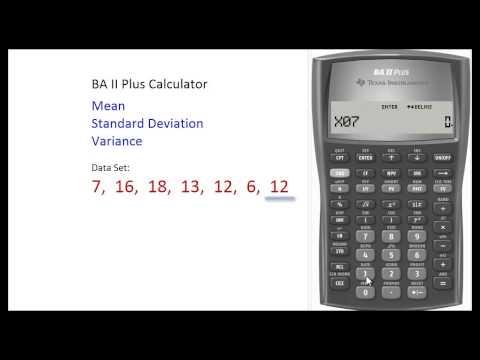 BAII Plus Calculator - Finding Mean & Standard Deviation