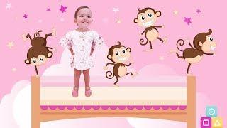 Пять маленьких обезьянок / Five Little Monkeys Jumping On The Bed Song