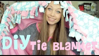 DIY: Fleece Tie Blanket!