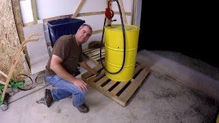 DIY Diesel Fuel Storage, Transport, And Pump Via 55 Gallon Barrel For Compact Tractor
