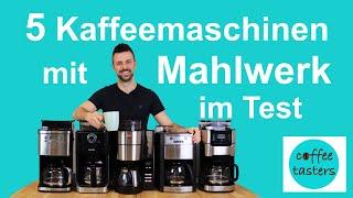 Die Kaffeemaschine mit Mahlwerk im Test +++ [5 beliebte Modelle im direkten Vergleich]