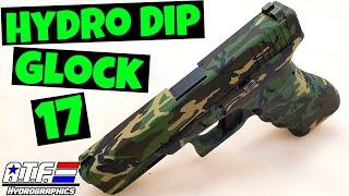 HYDRO DIP GLOCK 17 9mm - Woodland Army Camo - ATF Hydrographics
