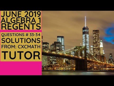 NYS Algebra 1 [Common Core] June 2019 Regents Exam ...