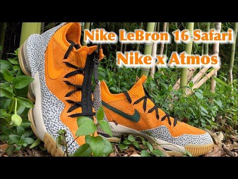 NIKE LeBRON 16 SAFARI - Review and On Foot Opinion