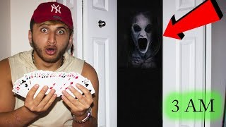 (GONE WRONG) PLAYING THE CARD GAME RITUAL AT 3 AM!! *this is why**