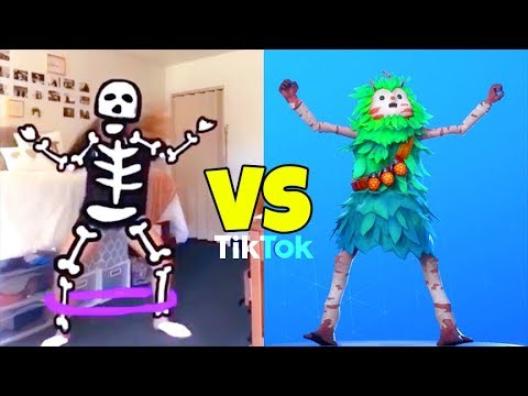 Spooky Scary Skeletons DANCE Vs Fright Funk EMOTE..! (Perfect Timing) Fortnite Battle Royale