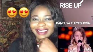 THE VOICE KIDS UKRAINE/ DANELIYA TULYESHOVA-RISE UP(REACTION)