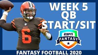2020 Fantasy Football - Week 5 Quarterback - Start or Sit (Every Match Up)