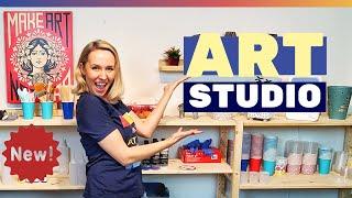 My New ART Studio Tour🎨 - Step-by-Step Artist Studio Workspace Set Up And Studio Tour