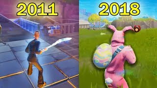 Fortnite REWIND 2018 - 2011 | Evolution of Old Fortnight to New Fortnite - LB 😂