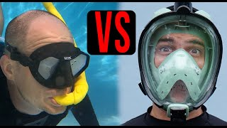 Full Face Snorkel Mask vs. Old Style Snorkel Mask 🤿  Which is BEST for snorkeling❓❓❓