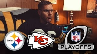 Dad Reacts to Steelers vs Chiefs 2017 Playoffs