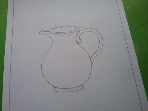How to draw Jug drawing for kids and beginners step by step