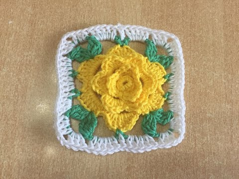 Tuto Granny Avec Rose Au Crochet Alextitia Tuto Crochet Video