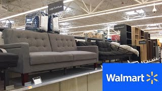 WALMART NEW FURNITURE SOFAS COUCHES FUTONS CHAIRS TABLES SHOP WITH ME SHOPPING STORE WALK THROUGH 4K
