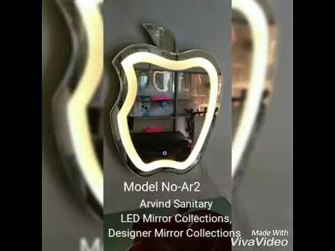 LED Mirror With Sensor Round Bubble