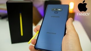 Apple Fanboy Unboxes Samsung Galaxy Note 9! | Note 9 Unboxing & First Impressions