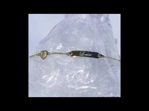 Kinderschmuck Kinderarmband Gold mit Gravur
