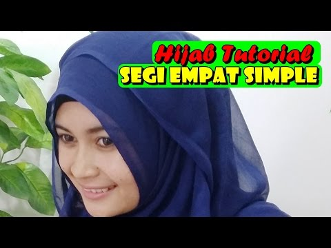 Video Hijab Tutorial - Cara Memakai Jilbab Paris Segi empat Square Scarf by Nica #186