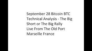 September 28 Bitcoin BTC Technical Analysis - The Big Short or The Big Rally?