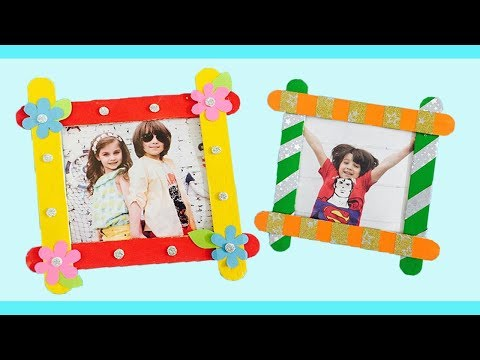How To Make Popsicle Stick Picture Frames Icecream Stick Photo