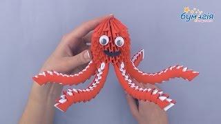 """Набор для творчества ЗD оригами """"Восьминог"""" 452 модуля от компании Интернет-магазин """"Радуга"""" - школьные рюкзаки, канцтовары, творчество - видео"""