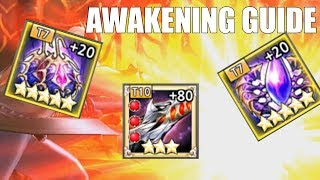 SAVE GOLD, ITEMS, AND UWS! King's Raid - Gear Awakening Guide