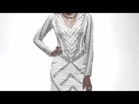 Shail K Sleeved Open Back Dress 3523