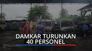 Kerahkan Tiga Unit Armada dan 40 Personil, Damkar Kota Padang Padamkan Api di Bengkel Lubuk Begalung