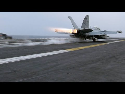The Intricate Skill That Goes Into Landing a Fighter Jet
