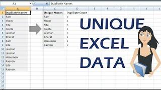 Unique Value in Excel | Distinct data in excel | Extract unique records