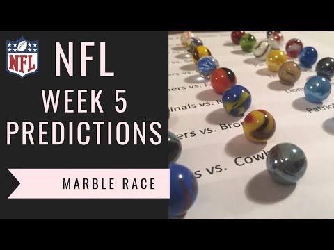 NFL Week 5 Picks (2018) - Marble Race