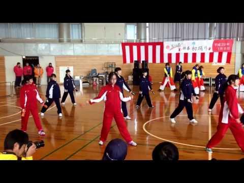 粕屋東中中学連 輝龍天翔 新春かすや初踊り