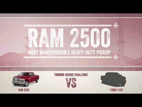 2017 RAM 2500 vs FORD F250 - Los Angeles, Cerritos, Downey CA - Turning Radius Challenge