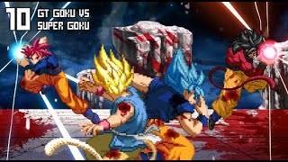 [What-If MOVIE] Super Goku VS GT Goku (DBS Manga VS DBGT, Super Saiyan Blue VS Super Saiyan 4).