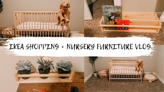 IKEA SHOPPING | NURSERY FURNITURE | PUTTING TOGETHER THE CRIB