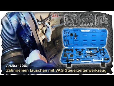 Zahnriemen wechseln Werkzeug VAG VW Seat Skoda Audi PD 1,9 2,0 TDI Steuerzeiten Pumpe Düse tauschen