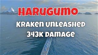 Harugumo T10 IJN Destroyer | 343k Damage, Kraken Unleashed | World Of Warships